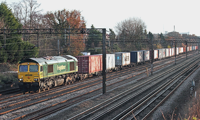 66590 Kenton 1/12/2009<br /> 4M58 1027 Southampton Docks-Basford Hall