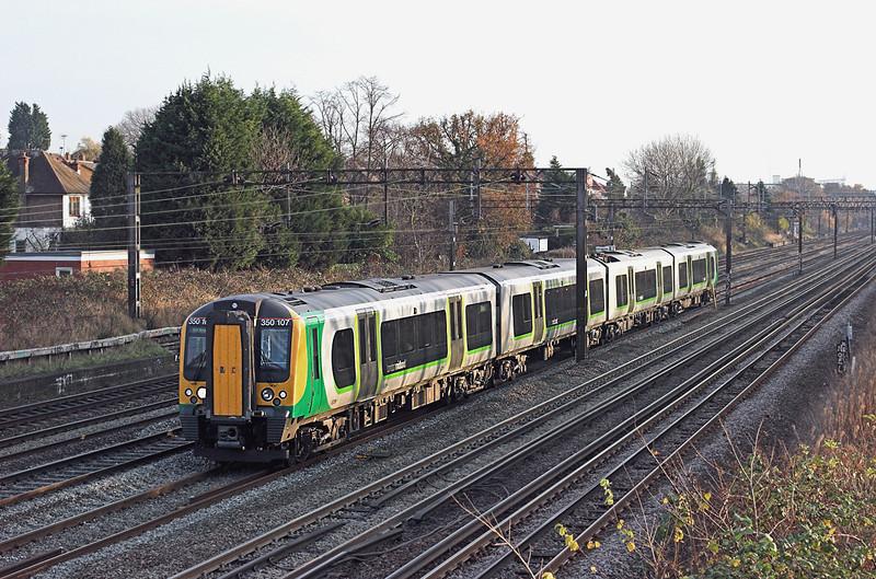 350107 Kenton 1/12/2009<br /> 1U39 1446 London Euston-Crewe