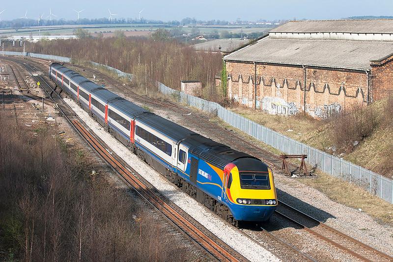 43048 and 43055, Wellingborough 3/4/2009<br /> 1B58 1528 Nottingham-London St Pancras