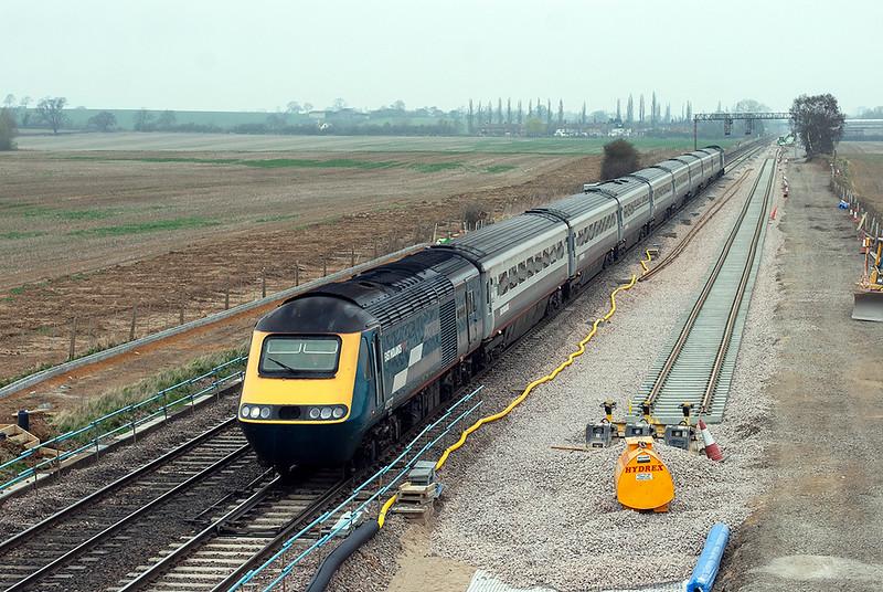 43072 and 43074, Harrowden Junction 3/4/2009<br /> 1B38 1128 Nottingham-London St Pancras