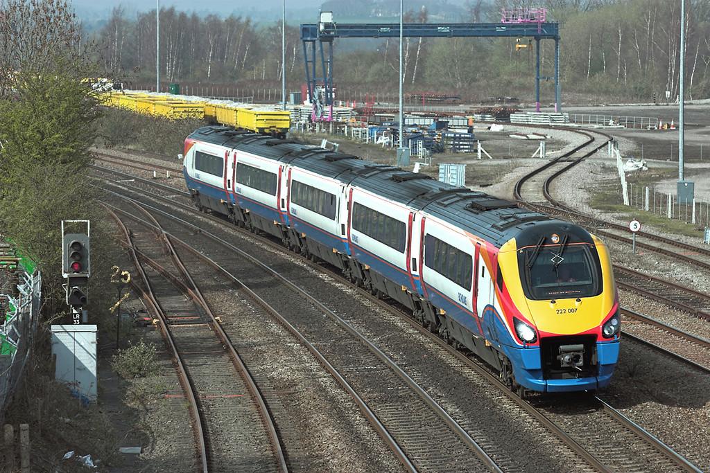 222007 Wellingborough 3/4/2009<br /> 1C52 1418 Derby-London St Pancras