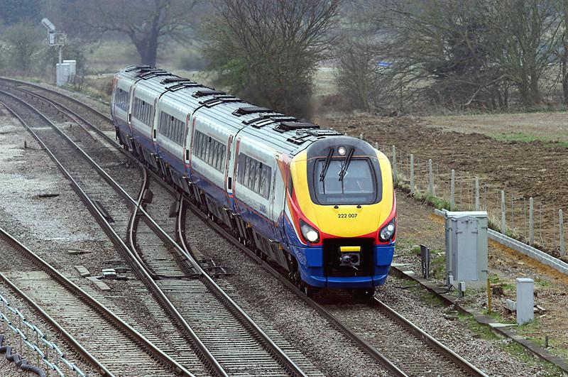 222007 Harrowden Junction 3/4/2009<br /> 1F23 1125 London St Pancras-Derby