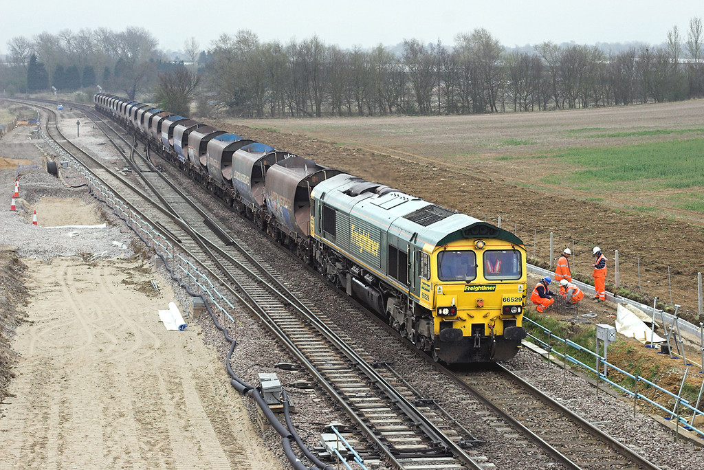 66529 Harrowden Junction 3/4/2009<br /> 6M47 0953 Neasden-Croft Quarry