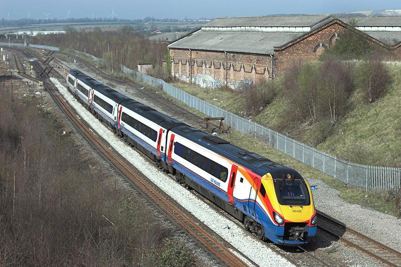 222022 Wellingborough 3/4/2009<br /> 1B56 1502 Nottingham-London St Pancras