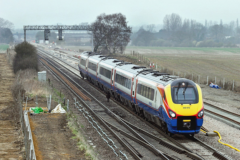 222012 Harrowden Junction 3/4/2009<br /> 1B36 1102 Nottingham-London St Pancras