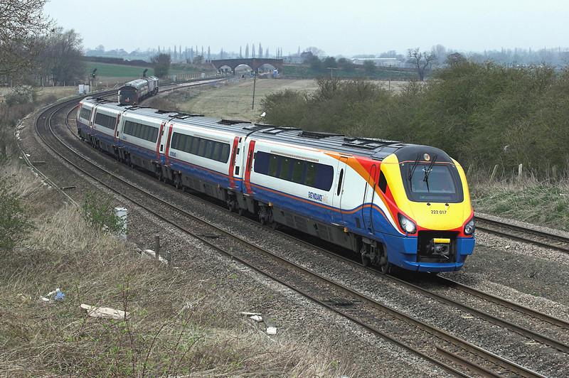 222017 Wellingborough 3/4/2009<br /> 1C42 1218 Derby-London St Pancras