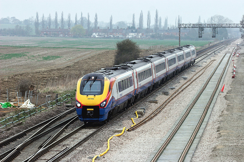 222002 Harrowden Junction 3/4/2009<br /> 1C35 1027 Sheffield-London St Pancras