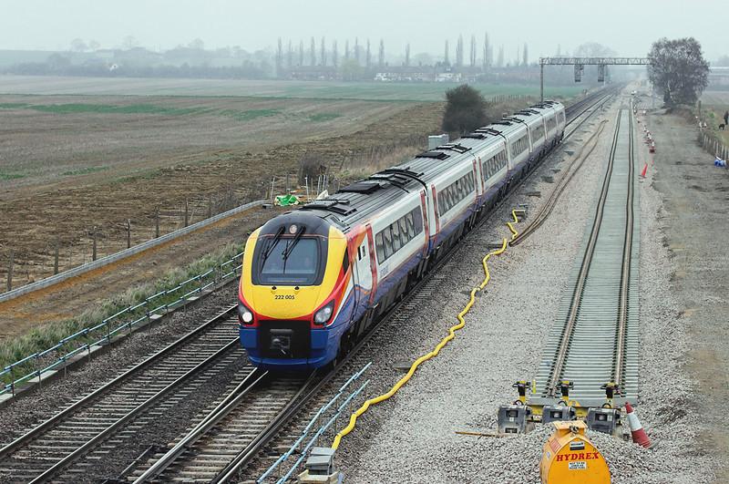 222005 Harrowden Junction 3/4/2009<br /> 1P34 1125 Kettering-London St Pancras