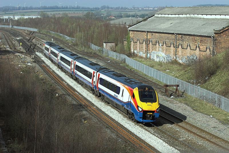 222008 Wellingborough 3/4/2009<br /> 1C57 1518 Derby-London St Pancras