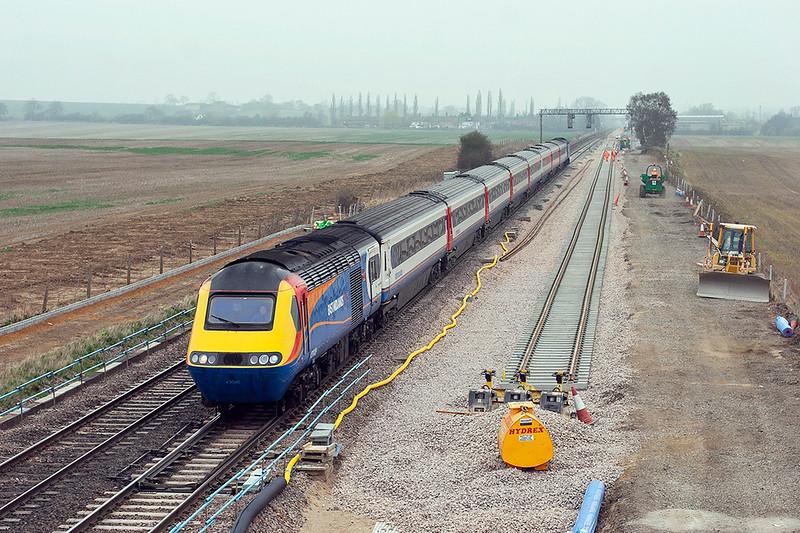 43048 and 43055, Harrowden Junction 3/4/2009<br /> 1B33 1028 Nottingham-London St Pancras