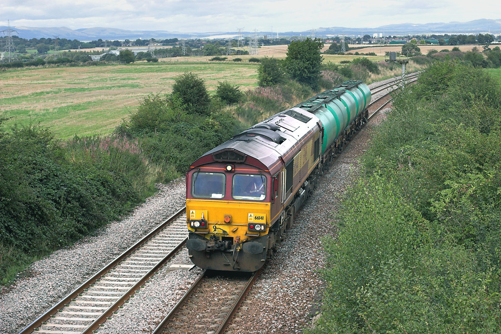 66141 Bonnyside 4/9/2009<br /> 6D18 1445 Grangemouth-Mossend Down Yard