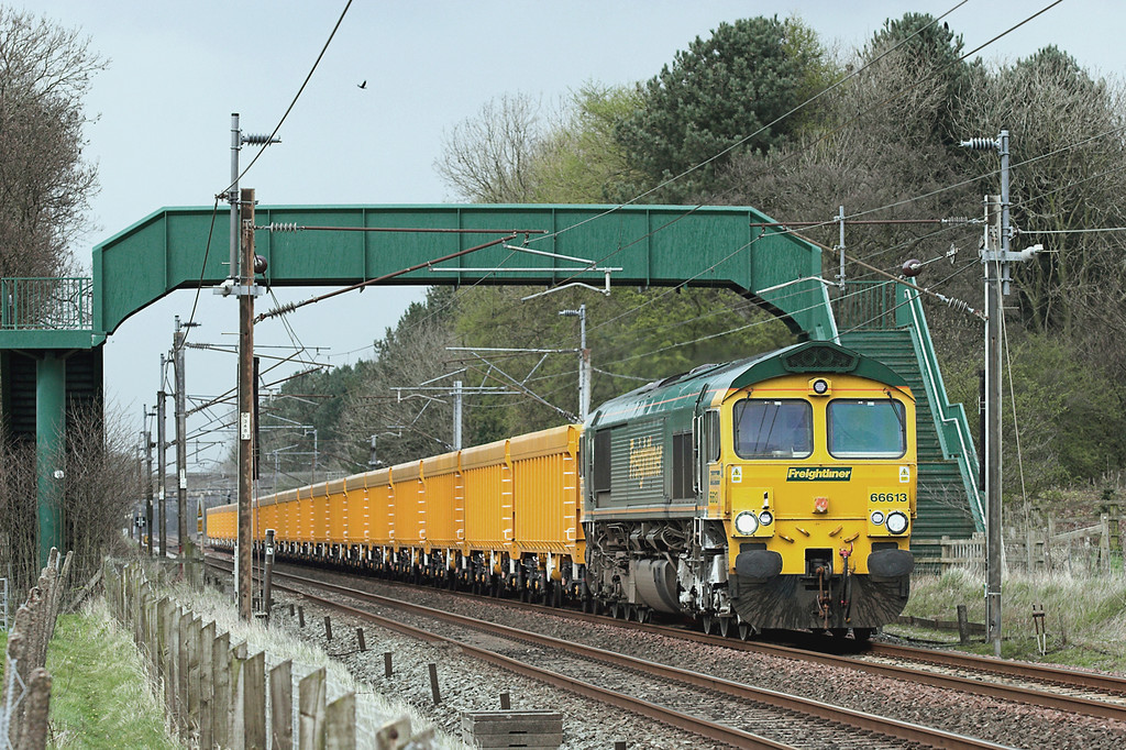 66613 Brock 9/4/2009<br /> 6U68 0855 Carlisle Yard-Mountsorrel