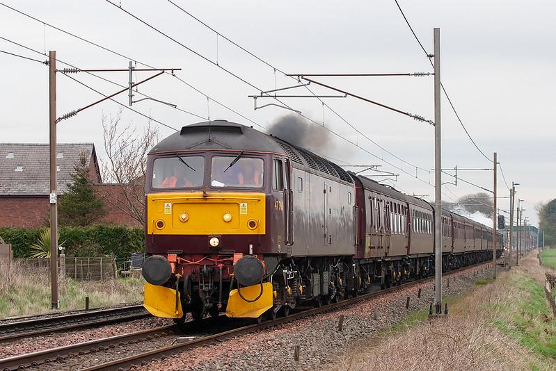 47760 Brock 9/4/2009<br /> 5Z80 0729 Carnforth-Preston