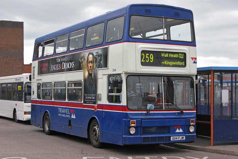 3114 G114FJW, Stourbridge 9/5/2009