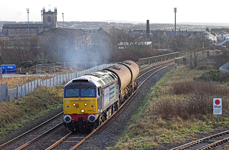 57008 Derwent Junction 10/12/2009<br /> 6C42 1338 Sellafield-Carlisle Yard