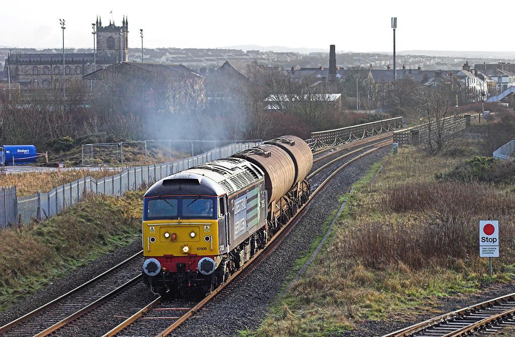 57008 Derwent Junction 10/12/2009<br /> 6C42 1338 Sellafield-Carlisle Yard