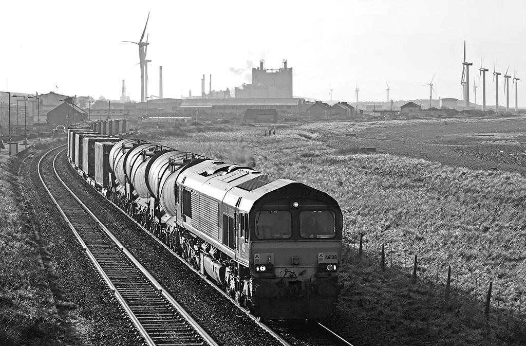 66108 Flimby 10/12/2009<br /> 6C48 1200 Workington Docks-Carlisle Yard
