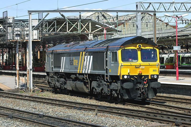 66303 Crewe 11/5/2009<br /> 0Z66 1200 Chaddesden-Crewe Gresty Bridge