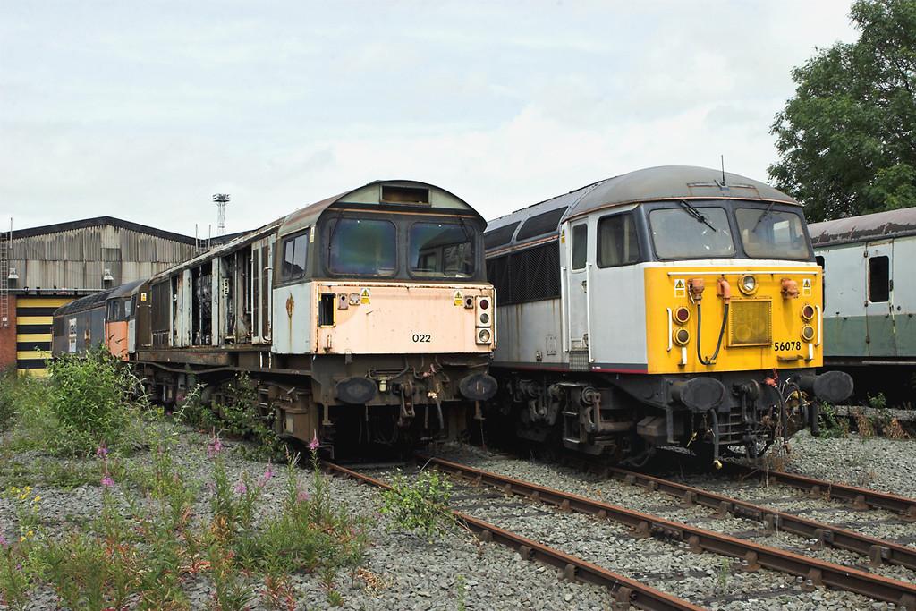 58022, 56077 and 56078, Crewe 11/7/2009