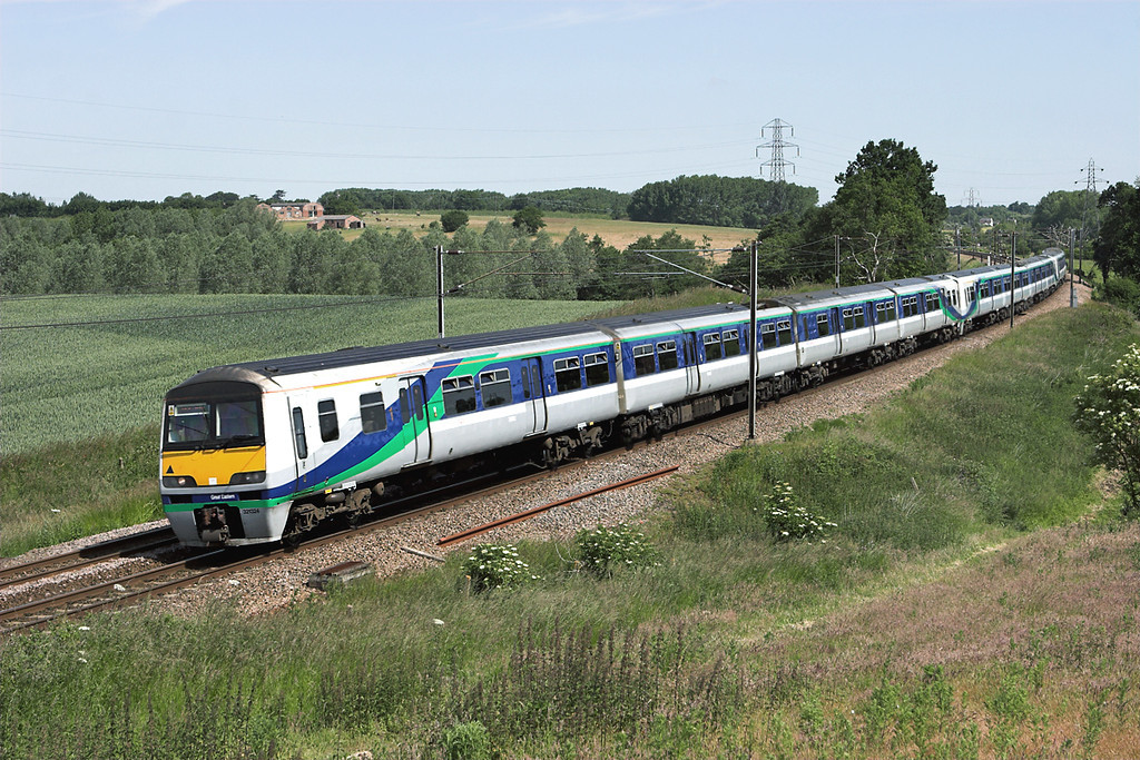 321324, 321364 and 321323, Brantham 12/6/2009<br /> 5F41 1004 Ipswich-Colchester