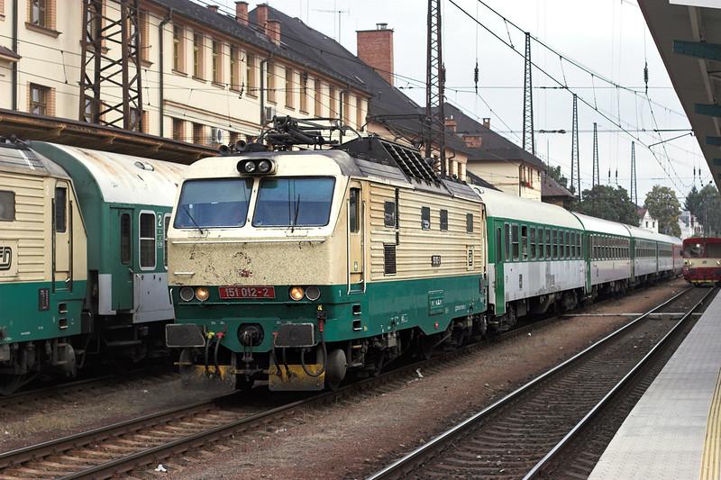 151012 Ĉeská Třebová 12/9/2009<br /> IC516 1500 Bohumin-Praha hl.n