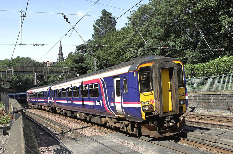 156467 Edinburgh 13/8/2009<br /> 2Y48 0915 Glasgow Central-Edinburgh