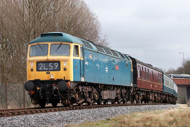 47402 Bury 14/3/2009<br /> 2J75 1205 Heywood-Rawtenstall