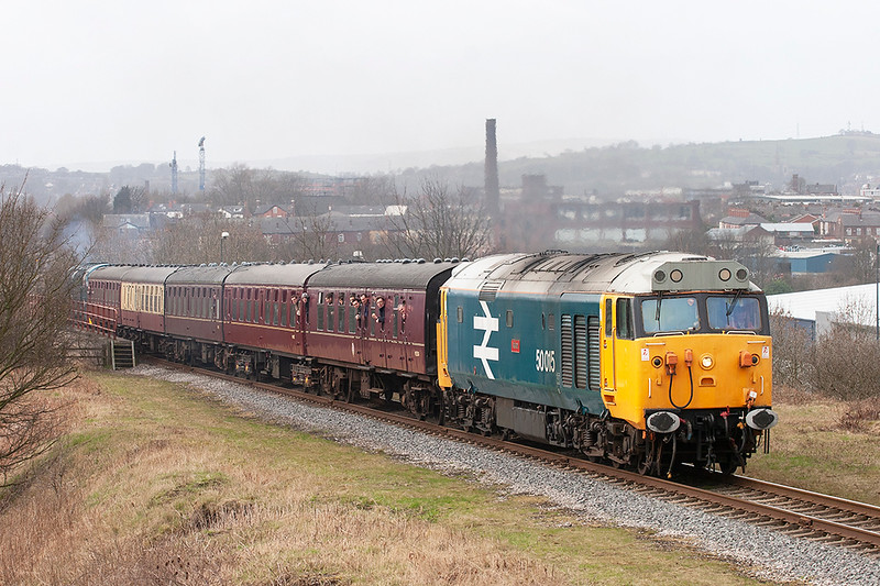 50015 Heap Bridge 14/3/2009<br /> 2J72 1246 Rawtenstall-Heywood