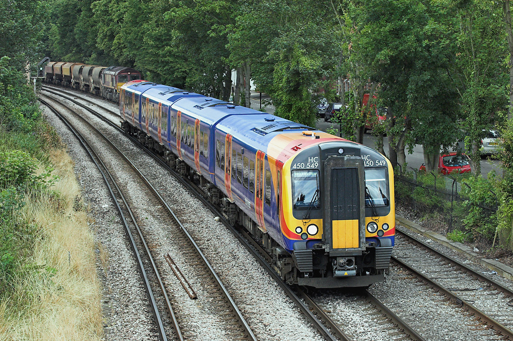 450549 New Kew Junction 15/7/2009<br /> 2S33 1203 Weybridge-London Waterloo