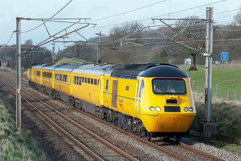 43062 and 43013, Woodacre 16/3/2009<br /> 1Q37 0714 Heaton CS-Crewe CS (via Kilmarnock)