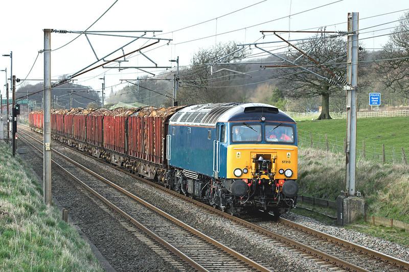 57313 Woodacre 16/3/2009<br /> 6J37 1251 Carlisle Yard-Chirk