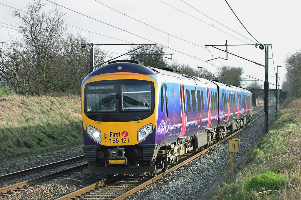 185121 Woodacre 16/3/2009<br /> 1C59 1500 Manchester Airport-Barrow in Furness