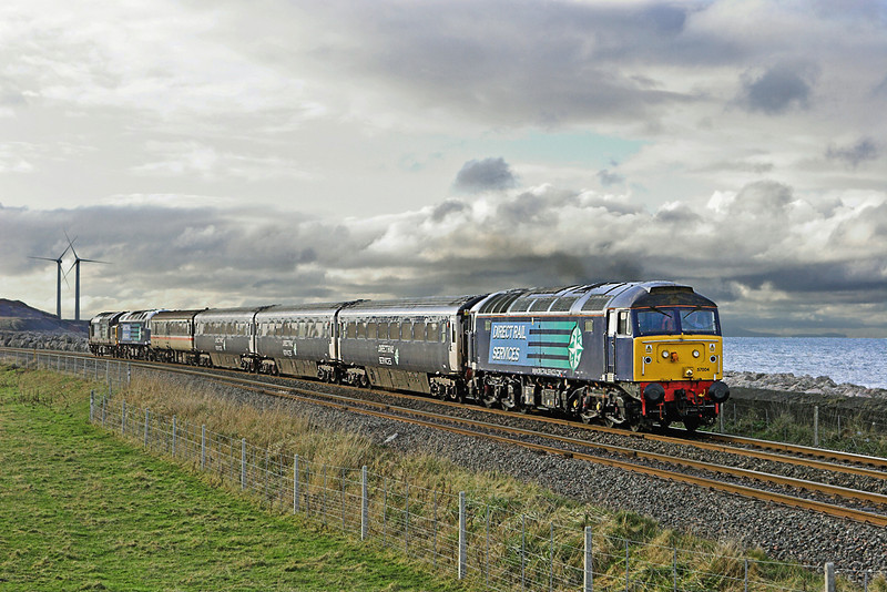 57004, 47790 and 37259, Siddick 17/12/2009<br /> 2T26 1120 Workington-Maryport