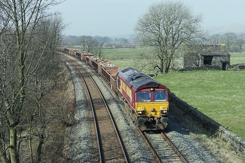 66132 Helwith Bridge 18/3/2009<br /> 6K05 1226 Carlisle Yard-Basford Hall
