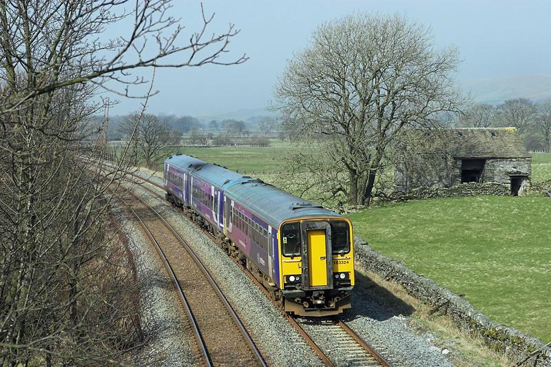 153324 and 158910, Helwith Bridge 18/3/2009<br /> 2H89 1151 Carlisle-Leeds