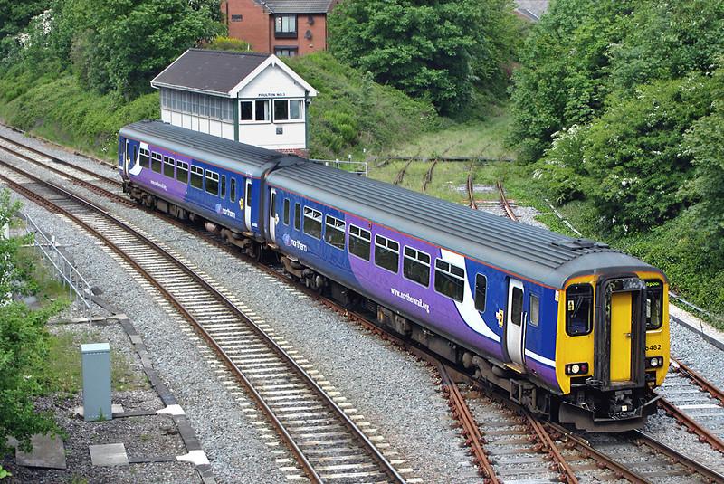 156482 Poulton-le-Fylde 18/5/2009<br /> 2F63 1037 Blackpool North-Liverpool Lime Street