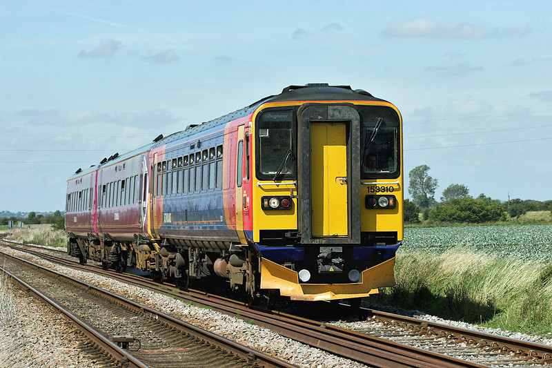 153310 and 158806, Wainfleet Common 19/8/2009<br /> 2S13 1045 Nottingham-Skegness