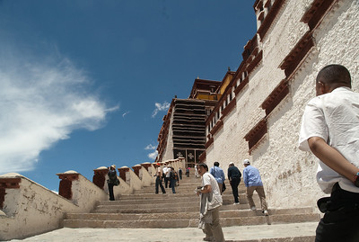 Potala Palace - The climb is harder than it looks!  Remember that the elevation is around 12,000 ft.
