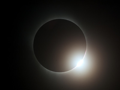 Diamond ring at the start of totality.