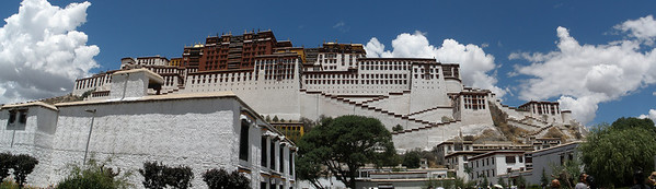 Potala Palace, the winter home of the Dalai Lama. Select 'O' (Original) size to see the full-sized panorama.