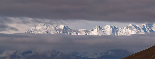 Himalayan Peaks above 8000 meters, including Cho Oyu. Select 'O' (Original) size to see the full-sized panorama.