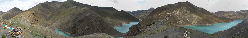 Yamdrok Lake Viewpoint. Select 'O' (Original) size to see the full-sized panorama.