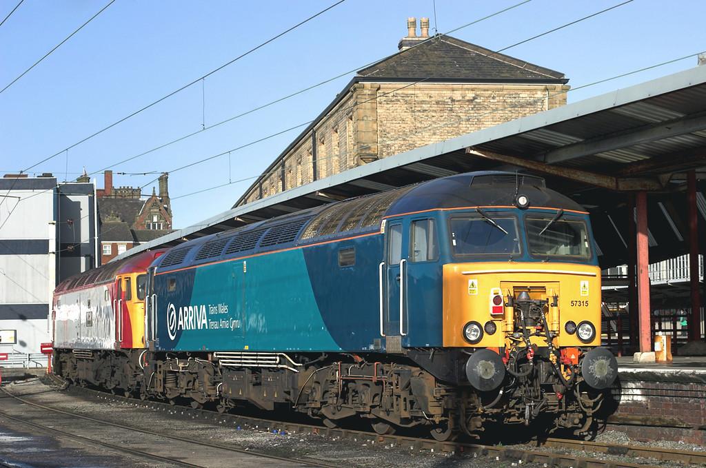 57315 and 57310, Preston 22/1/2009