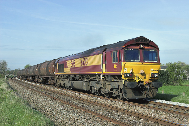 66013 Gregson Lane 22/4/2009<br /> 6E32 0855 Preston Docks-Lindsey OR