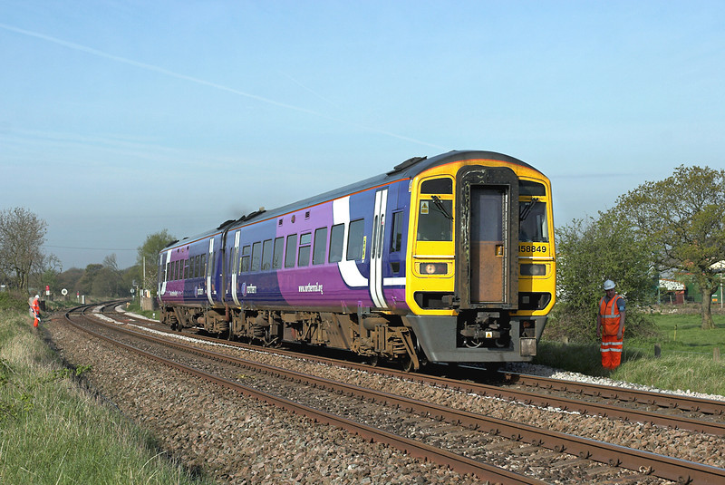 158849 Gregson Lane 22/4/2009<br /> 1B21 0829 Blackpool North-York