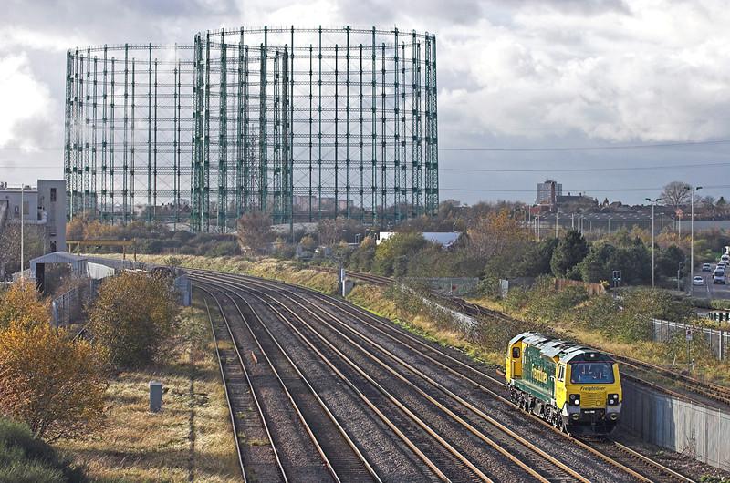 70001 Washwood Heath 26/11/2009<br /> 0Z70 1200 Lawley Street FLT-Lawley Street FLT<br /> (via Walsall, Saltley, Walsall, Castle Bromwich and Walsall)