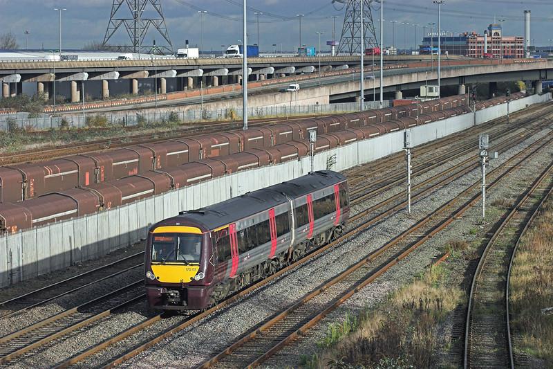 170111 Washwood Heath 26/11/2009<br /> 1K14 1216 Leicester-Birmingham New Street