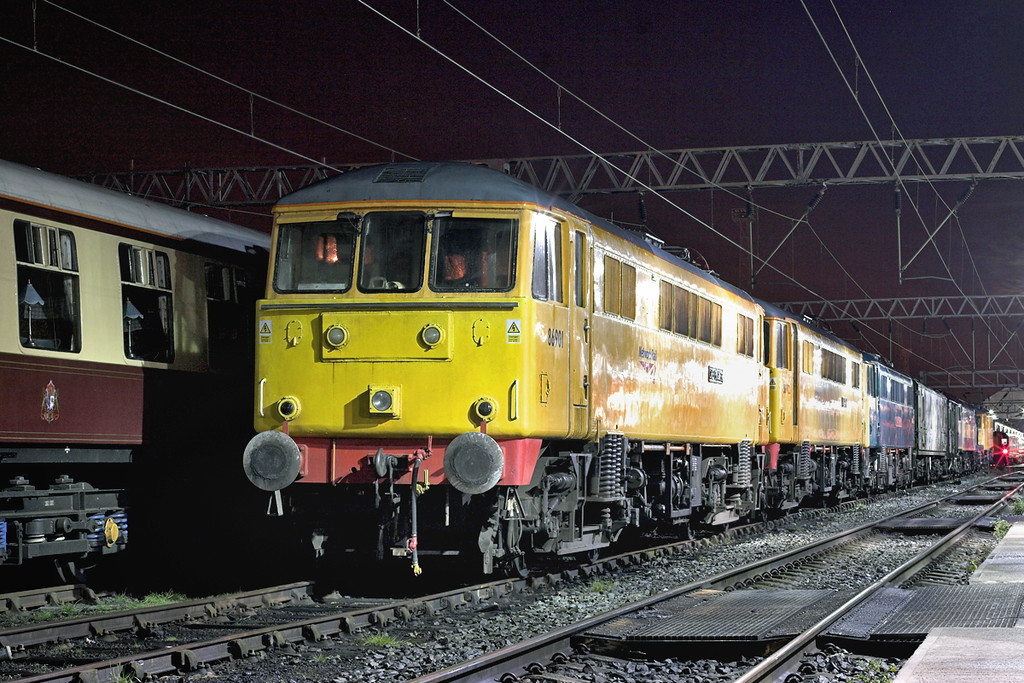 86901, 86902, 86101 and 86253, Crewe 29/8/2009