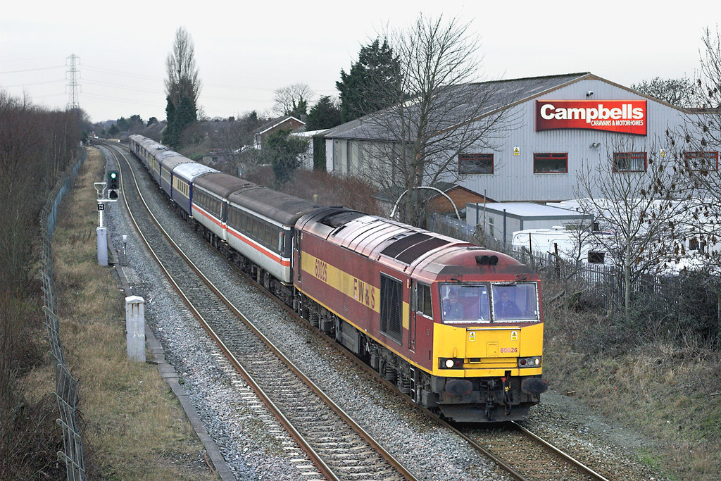 60026 Lostock Hall 31/1/2009<br /> 1Z60 1530 Preston-London Kings Cross
