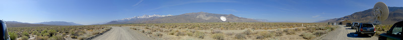 Panoramic view of the Owens Valley Radio Observatory site. Select 'O' (Original) size to see the full-sized panorama.